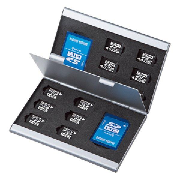 画像4: 両面収納アルミメモリーケース(microSD用・最大14枚収納)