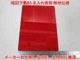 暗記下敷き(したじき)赤 B5サイズ